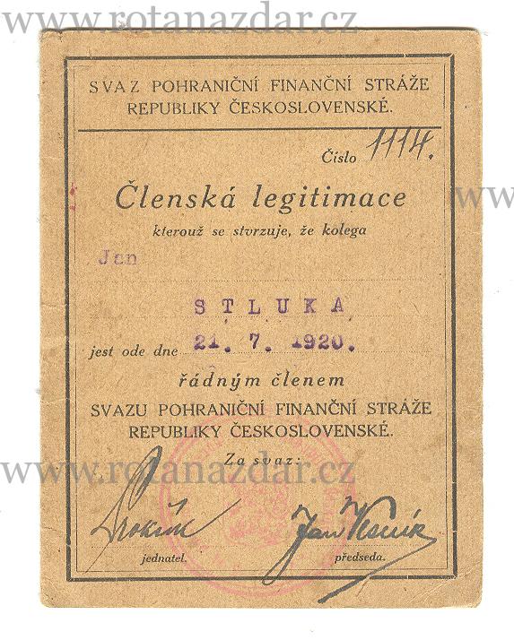 exponát_týdne_legitimace_fin_stráž