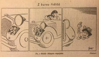 Exponát-týdne-Kreslený-vtip-z-kursu-řidičů