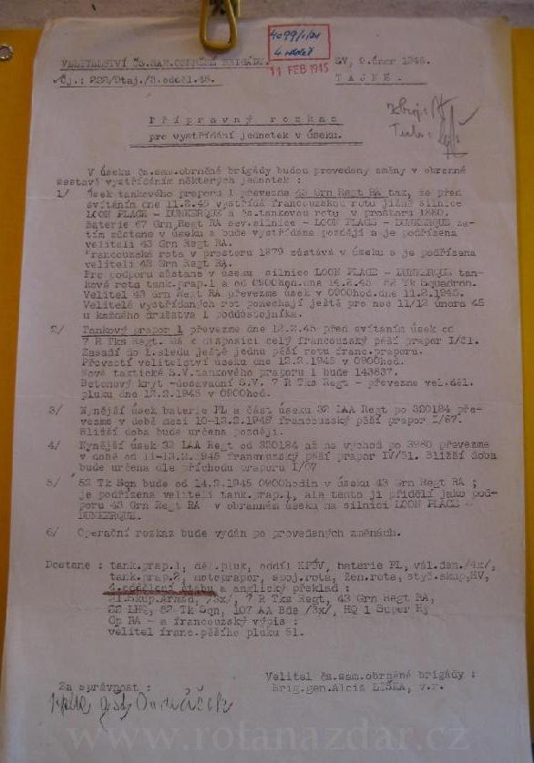 Exponat_tydne_operacni_rozkaz_Dunkerque